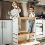 Double Kitchen Helper 3 w 1 Teatrzyk Zjeżdżalnia Montessori