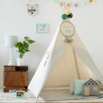 Namiot tipi Natural Lovely Dots grey 110x100 cm