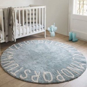 Lorena Canals Dywan Round ABC Vintage Azul Natural