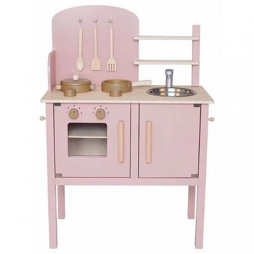 Kuchnia drewniana dla dzieci różowa Jabadabado