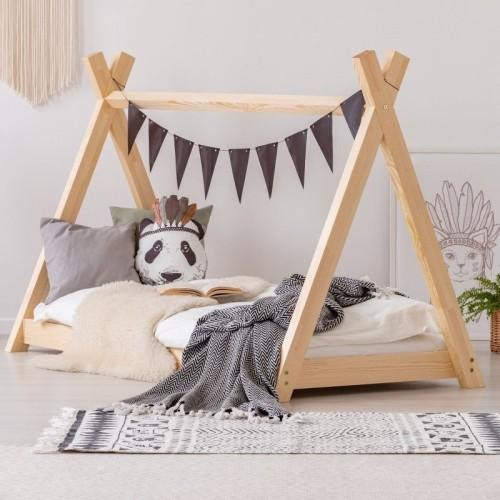 Drewniane łóżko Domek Tipi Dla Dzieci
