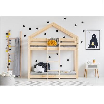 Drewniane łóżko Domek Dla Dzieci Piętrowe