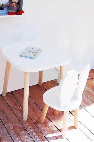 Bambooko Drewniany Stolik 1 Krzesełko Króliczek Baby Concept