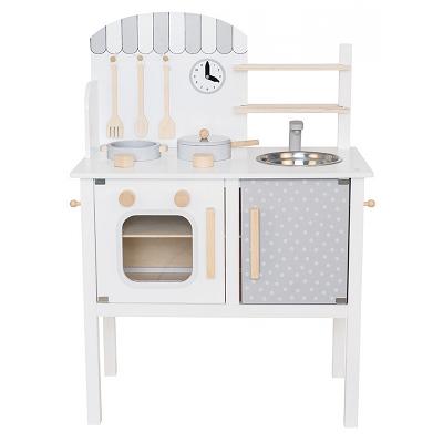 Jabadabado Kuchnia Drewniana Dla Dzieci Biala Baby Concept